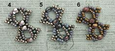 Linda's Crafty Inspirations: Playing with my beads...Saturn Bracelet Samples