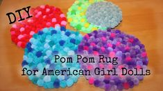 How to Make Pom Pom Rug for American Girl Doll - easy DIYYou can find American girl crafts and more on our website.How to Make Pom Pom Rug for American Girl Doll - easy DIY American Girl Doll Room, American Girl Furniture, American Girl Crafts, American Girls, American Girl House, Diy Ag Dolls, Ag Doll Crafts, Ravenclaw, Diy Videos