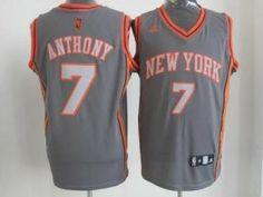 Adidas NBA New York Knicks 7 Carmelo Anthony Swingman Gray Jersey New York Knicks, Nba New York, Tienda Real Madrid, Cheap Nba Jerseys, Dani Alves, Nba T Shirts, Nba Hats, Barcelona, Adidas Nba