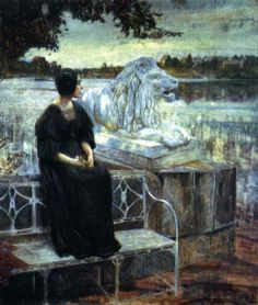 'Portrait of the Painter's Wife' (1906) - by Isaak Izrailevich Brodsky (1884-1939)