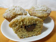 Muffin alle banane con cuore di nutella