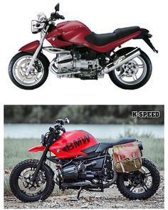 Street Fighter Motorcycle, Retro Motorcycle, Bmw Scrambler, Bmw Motorbikes, Bmw Motorcycles, Bike Bmw, Moto Bike, Custom Bmw, Custom Bikes