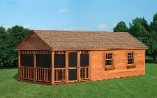 12x28 Cedar Gable A-Frame Style Shed - Capitol Sheds
