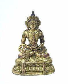 Antique Chinese Tibetan Gilt Bronze Figure of Buddha Amitayus Statue Copper Casting, Statue Antique, Antique Rare, Bronze, Buddhism, Chinese, Vintage, Antiques, Collection