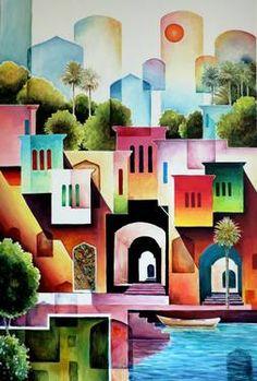 "Saatchi Art Artist Munir Alubaidi; Painting, ""Oreint"" #art"