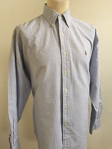 RALPH LAUREN Mens CLASSIC FIT Shirt BLUE WHITE STRIPED Size 2XLT TALL   eBay