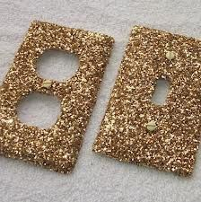 Gold Rush Glitter Light Switch or Outlet Covers - I'd do a DIY of these for Azra's room