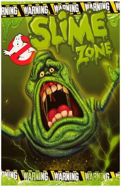 Warning: Slime Zone! A great poster of the ghost with the most - Slimer, everyone's favorite character from Ghostbusters. Ships fast. 11x17 inches. Need Poster Mounts..?