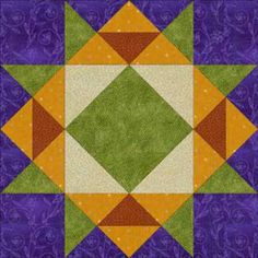 """Crown of Thorns Quilt Block Pattern: 12"""" finished"""