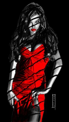 femme fatale by nbashowtimeonnbc on deviantART - inspiration www.redlyserious.nl