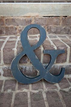 Ampersand wood letter wedding photo prop shabby by theletteredlane, $29.50