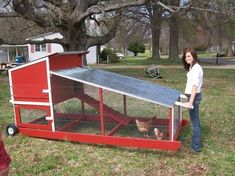 portable chicken coop on wheels   Why Choose A Mobile Chicken Coop?   Chicken Coop How to #modernyardchickencoops