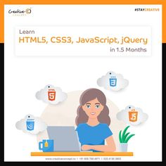 Learn #HTML, #CSS, #JS, #JQUERY in 1.5 Months.  For enrollment call on : 020 4130 3803  #staycreative #creativeconcept #joborientedcourses #UI #UX #UIUX #WEBDESIGNING #GRAPHICDESIGNING  goo.gl/3vVQHd