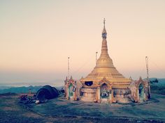 High above the Ann to Magway road we camped next the pagoda. The view was a great reward for the 2563m of altitude we gained over the 30km from Ann. #myanmar #cycling #wildcamping #adventure #travel #mountainlegs