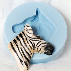 Zebra Flexible Silicone Mold for Polymer Clay by MoldMeShapeMe, $5.50