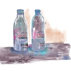 My first digital drawings, using Adobe Fresco. This is my traveling water bottle. Do you want to see more of this kind of drawings, and to show you slowly what's in my travel bag? Say AIY in the comments if you do. Sketchbook Pages, Fresco, Travel Bag, Painting & Drawing, Sketching, Singapore, Artworks, Adobe, Water Bottle