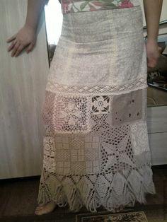 """Купить Юбка """"Пэчворк"""" - юбка, женская одежда, одежда, льняная одежда, пэчворк, летняя юбка"""