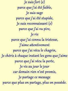 ci Words Quotes, Life Quotes, Sayings, Good Quotes For Instagram, Sois Fort, French Expressions, French Quotes, Some Words, Positive Attitude