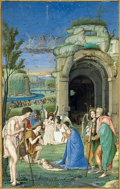 Adoration of the Shepherds, Francesco di Marco Marmitta da Parma (Emilian, 1457–1505).