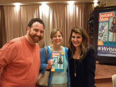 Nia Vardalos was so sweet and signed our copy of her book Instant Mom, twice!