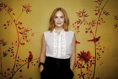 """With her wide, pouting lips and sharply arched eyebrows, Ruth Wilson has a face that seems designed for drama. She's put this genetic predisposition to memorable use playing intense, often troubled characters — Jane Eyre in a BBC adaptation of the Charlotte Bronte novel; Stella Kowalski in a Donmar Warehouse production of """"A Streetcar Named Desire""""; Alice Morgan, a charismatic psychopath in the BBC detective series """"Luther."""""""