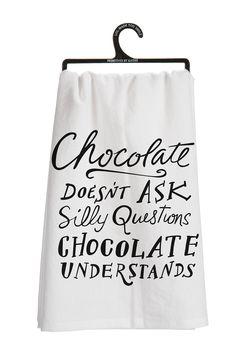Chocolate Tea Towel