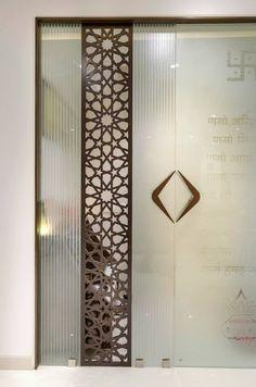 Mandir glass door