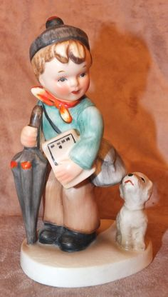 Vintage Napco Back To School Boy With Dog by MoonbearConnections