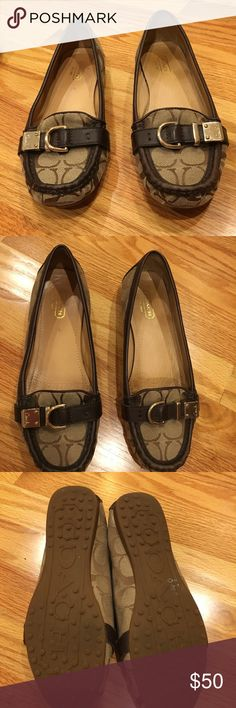 Coach signature driving moccasins In excellent condition. Worn a few times. Coach Shoes Flats & Loafers