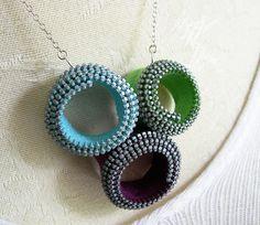 vintage zipper spirals necklace no. 2 - © amalia versaci 2009 by Amalia Versaci, via Flickr