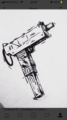 dibujos imágenes y diseños de pistolas para colorear y pintar