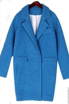 2014 Newest Hot Silkworm Cocoon Coat Ladies Fashion High Quality Winter Long Coat Woolen Jacket Covered Button Blue/Yellow Oversized Mantel, Oversized Coat, Coats For Women, Jackets For Women, Hijab Style, Long Winter Coats, Maxi Coat, Blue Coats, Blazers