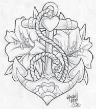 resultado de imagem para anchor tattoo design - Anchor Coloring Page