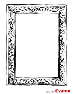 Frame 1 - Free Printable Coloring Pages