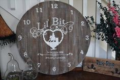 Wood pallet wall clock