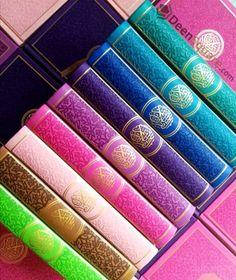 Rainbow Quran with Golden Borders on Cover - Medium Size 14 x 20 cm Islamic Page, Islamic Girl, Quran Wallpaper, Islamic Wallpaper, Lockscreen Iphone Quotes, Quran Sharif, Wedding Gift Baskets, Alhamdulillah For Everything, Quran Book