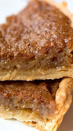 Southern Brown Sugar Pie _ This pie is a family tradition my Mother made, her Parents made, & Generations back! It is similar to chess pie yet, so different. Rich brown sugar flavor & caramelizing on top is just.so.good. Hands down my favorite pie!
