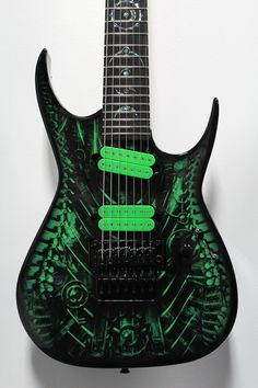 """Green Xenocide"" Custom Shop 7-String Dean RC7"