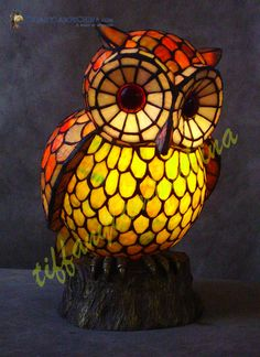 Alfa img - Showing > Owl Tiffany Style Lamp