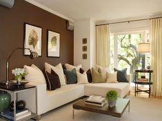 jolis salons marrons dcoration salon dcor de salon - Salon Mur Marron