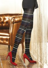 Cinabro Opaque Striped Tights, These gorgeous soft, stripy tights are definitely individual and make a great statement. Striped Tights, Patterned Tights, Fashion Tights, Hold Ups, Hosiery, Underwear, Stockings, Stripes, Lingerie
