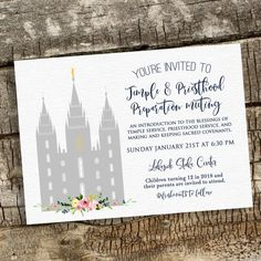 Temple and Priesthood Preparation Baptism Invitation Missionary Farewell, Lds Primary, Primary Resources, Baptism Invitations, Activity Days, The Covenant, Teaching Kids, Activities, White Texture