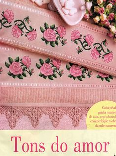 View album on Yandex. Rose Embroidery, Silk Ribbon Embroidery, Vintage Embroidery, Cross Stitch Embroidery, Cross Stitch Borders, Cross Stitch Rose, Cross Stitch Flowers, Cross Stitch Patterns, Crochet Flower Patterns