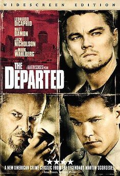 Departed, The (Widescreen) on DVD from Warner Bros. Directed by Martin Scorsese. Staring Leonardo DiCaprio, Mark Wahlberg, Matt Damon and Jack Nicholson. More Cops/Police, Drama and Thrillers DVDs available @ DVD Empire. Martin Sheen, Matt Damon, Martin Scorsese, Mark Wahlberg, Jack Nicholson, Leonardo Dicaprio, Movies To Watch, Good Movies, Greatest Movies