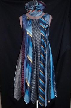 Harlequin Necktie Dress Womens' Sizes by Ladymantis on Etsy