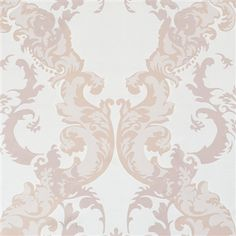 Rose damask elaborate radiant metallic home wallpaper by Walls Republic R2068.