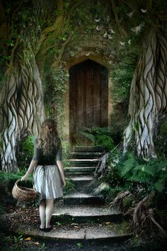 """Should I enter, or should I not?"" Something beckons me to open that door, yet my heart is beating wildly against my chest."