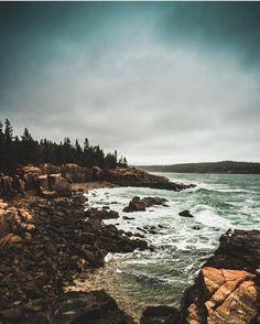 Thunder Hole at Acadia National Park in Maine