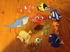 Set of 10 Finding Nemo die cuts by scrappinbjs. Explore more products on http://scrappinbjs.etsy.com
