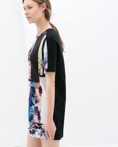 ZARA - WOMAN - CONTRASTING PRINTED DRESS